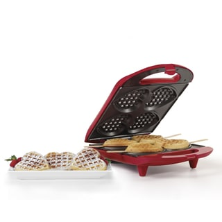 HOLSTEIN HOUSEWARES HEART SHAPED WAFFLE MAKER