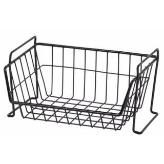 IRIS Large Stacking Basket, Black