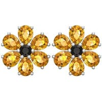 Sterling Silver Pear-shaped Birthstone Earrings