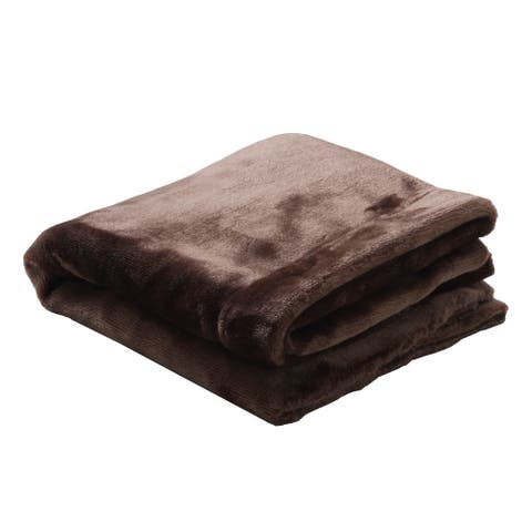 EarthLite Premium 60 x 90-inch Microfiber Fleece Blanket Reversible Machine-Washable