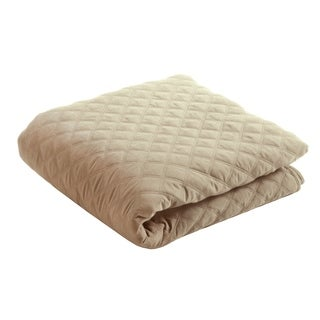 "EARTHLITE Microfiber Quilted Blanket - Reversible, Machine-Washable, 60""x90"""