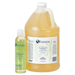 EARTHLITE Massage Oil - Natural, Unscented, Vitamin A, E & C to repair and moisture for all massage styles