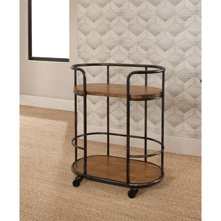 Abbyson Lamar Industrial Bar Cart