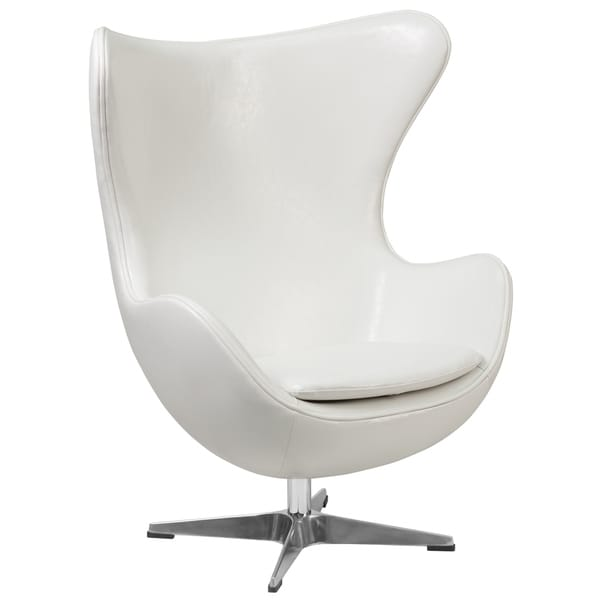 Shop Retro Style Curved Wing Design White Leather