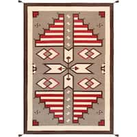 "Pasargad Geometric Collection Hand-Woven Wool Rug (6' 0"" X 9' 0"") - multi"