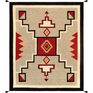 "Pasargad Geometric Collection Hand-Woven Wool Rug (8' 1"" X 9'10"")"