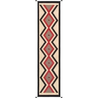 "Pasargad Multi Collection Hand-Woven Wool Runner (3' 2"" X 13' 9"")-"