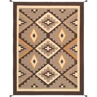 "Pasargad Geometric Hand-Woven Wool Multi Area Rug (8'11"" X 11'10"")"
