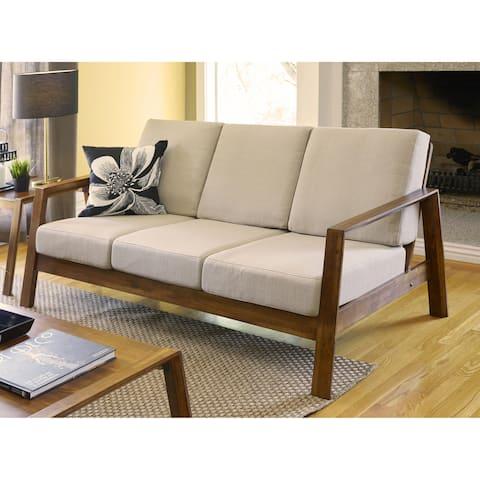 Carson Carrington Horuphav Mid-century Modern Tan Sofa