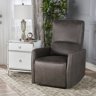 Birdie Traditional Microfiber Power Recliner by Christopher Knight Home