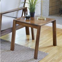 Handy Living Raleigh Cherry Finnish Square Wood End Table