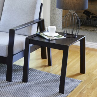 Handy Living Raleigh Espresso Brown Square Wood End Table