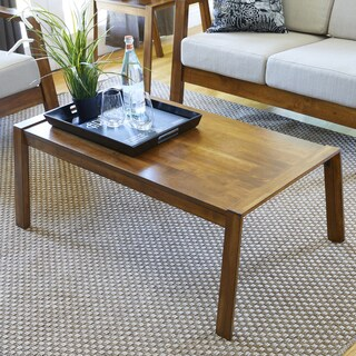 Handy Living Raleigh Rectangle Cherry Wood Coffee Table