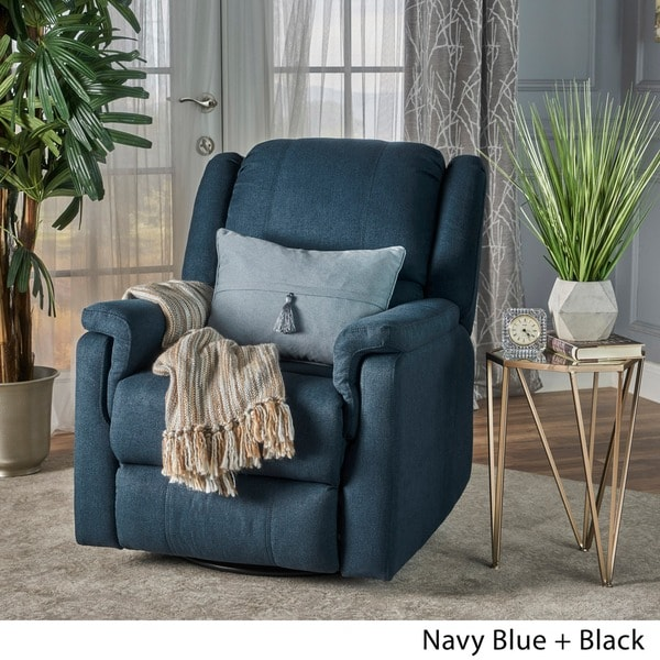 Jennette Fabric Swivel Gliding Recliner by Christopher Knight Home - Free Shipping Today - Overstock.com - 23791478 & Jennette Fabric Swivel Gliding Recliner by Christopher Knight Home ... islam-shia.org