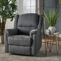 Jennette Fabric Swivel Gliding Recliner by Christopher Knight Home
