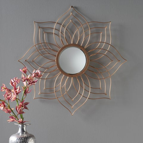 Oakley Floral Wall Mirror by Christopher Knight Home - N/A