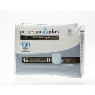 Protection Plus Extended Capacity Overnight Disposable Underwear