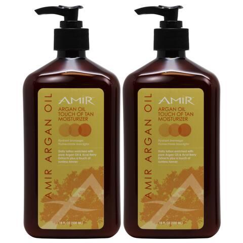 Amir Argan Oil Touch of Tan 18-ounce Body Moisturizer Lotion