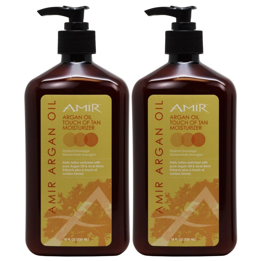 Amir Argan Oil Touch of Tan 18-ounce Body Moisturizer Lot...
