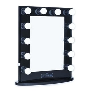 ReignCharm Hollywood Vanity Mirror 12-LED Lights Standard Dual Outlets, 22-Inches Wide x 29-Inches High