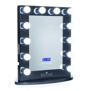 ReignCharm Hollywood Vanity Mirror Bluetooth Audio-Enabled Speakers, 12-LED Light Bulbs, 22-Inches Wide x 29-Inches High|https://ak1.ostkcdn.com/images/products/17570944/P23791572.jpg?impolicy=medium