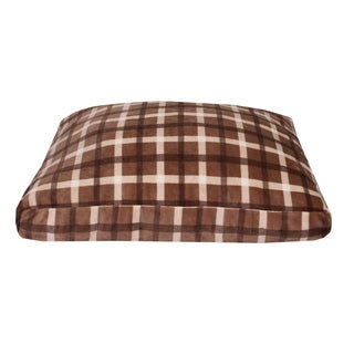 36x27 Chunky Plaid Printed Fleece Dog Bed