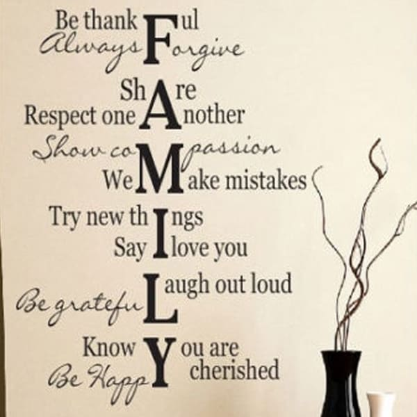 Free Shipping Family Is Vinyl Wall Lettering Quote Wall: Shop Family Verse Quote Wall Vinyl