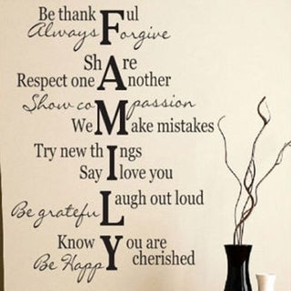 Family Verse Quote Wall Vinyl