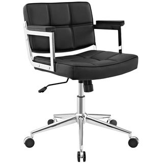 Portray Mid Back Upholstered Vinyl Office Chair