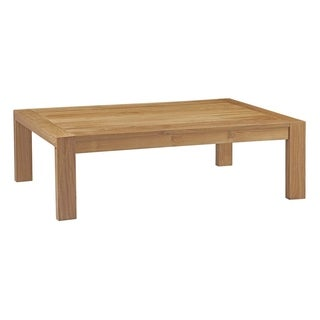 Oliver & James Detaille Distressed Square Teak Coffee Table