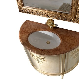 Eviva Monte Carlo 18k-gold-gilded Wood and Crystal 42-inch Bathroom Undermount Single-sink Vanity Set