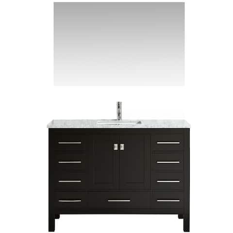 "Eviva Aberdeen 42"" Transitional Espresso Bathroom Vanity"