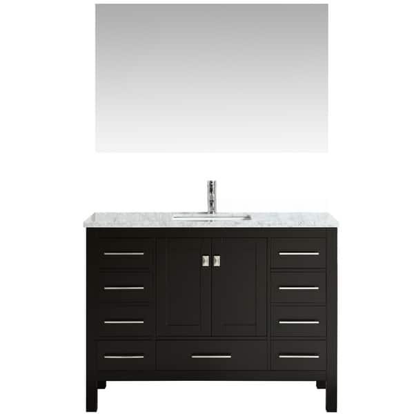 Eviva Aberdeen 42 Transitional Espresso Bathroom Vanity Overstock 17598731