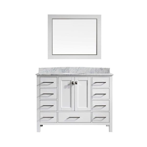 Eviva Aberdeen White Carrara Countertop 42-inch Bathroom Vanity