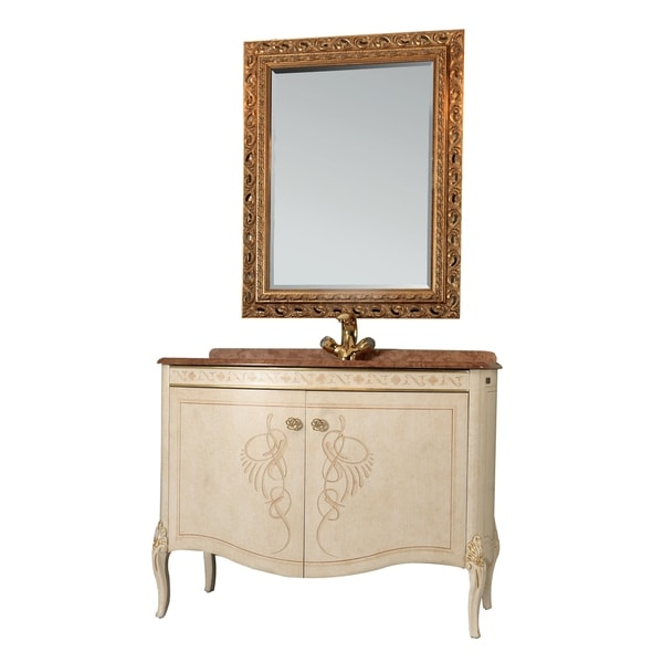 Heritage Bathroom Vanity: Shop Eviva Heritage Gold 34-inch Bathroom Vanity Set