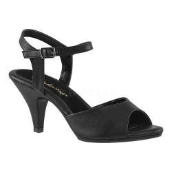 Women's Fabulicious Belle 309 Ankle-Strap Sandal Black Faux Leather/Black Matte