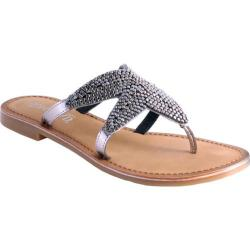 Women's Nomad Shelly Starfish Thong Sandal Pewter