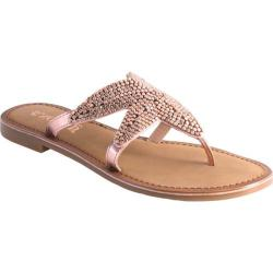 Women's Nomad Shelly Starfish Thong Sandal Rose Gold