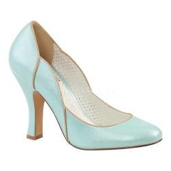 Women's Pin Up Smitten 04 Pump Baby Blue Faux Leather