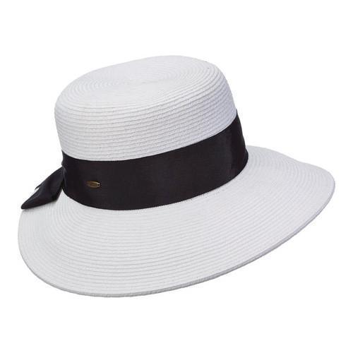 edbf37916b7 Shop Women s Scala LP149 Dimen Brim Sun Hat with Bow White - Ships ...
