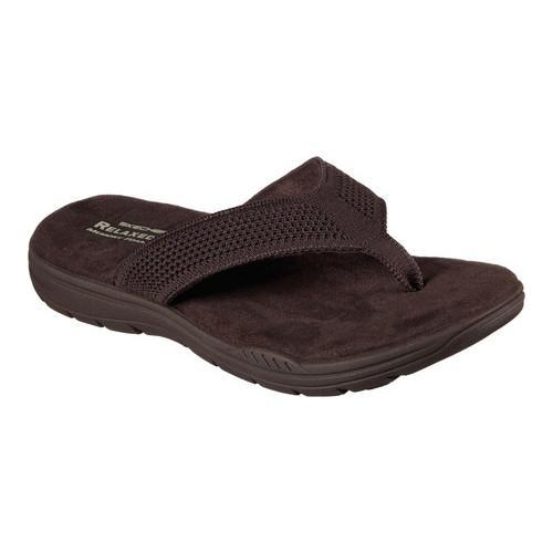 4bca62796bab Shop Men s Skechers Relaxed Fit Evented Borte Flip-Flop Chocolate ...