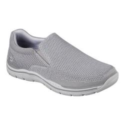 Men's Skechers Relaxed Fit Expected Gomel Slip-On Sneaker Light Gray