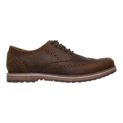 Men's Skechers Solent Alveno Wing Tip Blucher Brown - Thumbnail 1