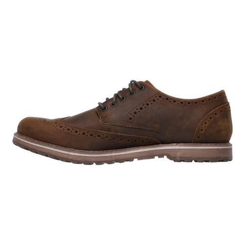 Men's Skechers Solent Alveno Wing Tip Blucher Brown - Thumbnail 2