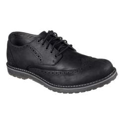 Men's Skechers Solent Alveno Wing Tip Blucher Black