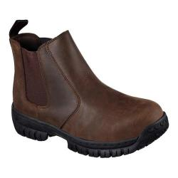 Men's Skechers Work Hartan Glendo Steel Toe Chelsea Boot Brown