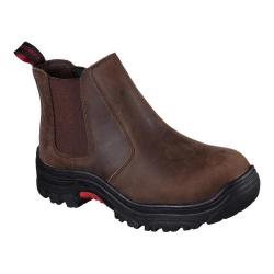 Men's Skechers Work Relaxed Fit Burgin Glennert Comp Toe Boot Dark Brown