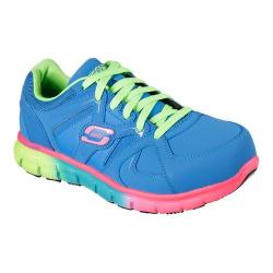 Women's Skechers Work Synergy Sandlot ST Blue/Multi