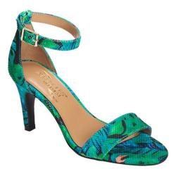 Women's Aerosoles Laminate Ankle Strap Sandal Blue Green Combo Fabric