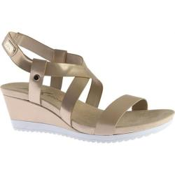 Women's Anne Klein Shanni Wedge Sandal Light Gold/Light Natural Synthetic